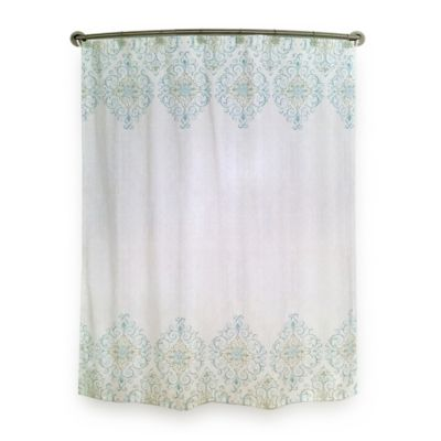 Lenox® French Perle Groove Shower Curtain in Ice Blue