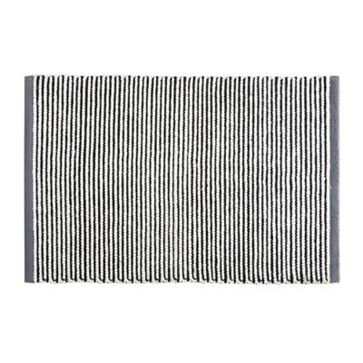 HipStyle Watson 20-Inch x 30-Inch Cotton Woven Bath Mat in Black