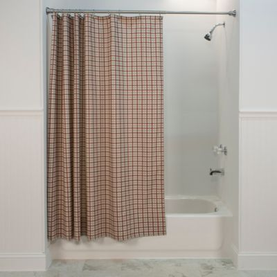 Bristol Plaid Shower Curtain in Red