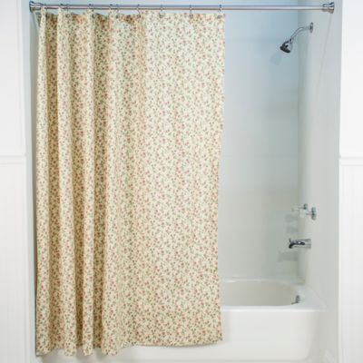 Marcia Floral Shower Curtain in Green