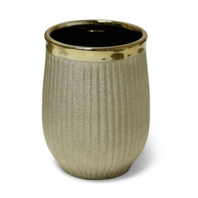 Hammered Ceramic Tumbler in Gold