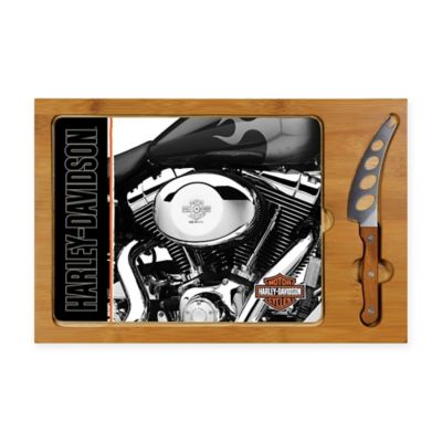 Legacy by Picnic Time® Harley Davidson Icon Engine Glass Cutting Board