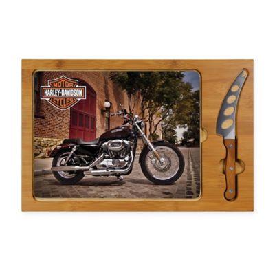 Legacy by Picnic Time® Harley Davidson Icon Bike Glass Cutting Board