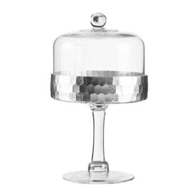 Fitz and Floyd® Daphne Pedestal Cake Plate with Dome in Silver