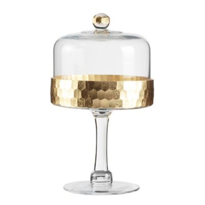 Fitz and Floyd® Daphne Pedestal Cake Plate with Dome in Gold