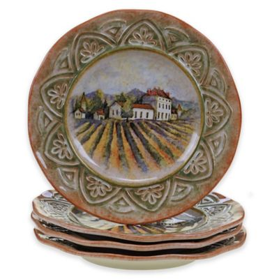 Certified International Sanctuary Wine by Susan Winget Dinner Plates (Set of 4)