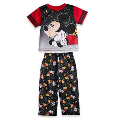 Disney® Mickey Mouse Size 12M 2-Piece Goodnight Short-Sleeve Pajama Set in Black