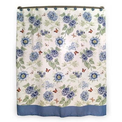 Lenox® Blue Floral Garden Shower Curtain
