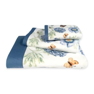 Lenox® Blue Floral Garden Hand Towel