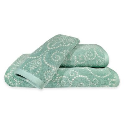 Lenox® French Perle Hand Towel in Ice Blue