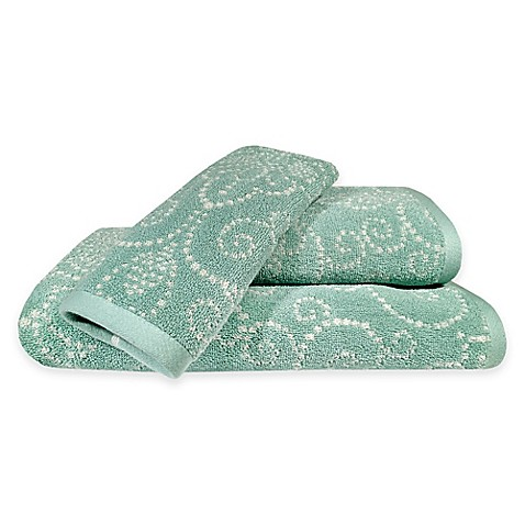 Buy Lenox 174 French Perle Bath Towel In Ice Blue From Bed