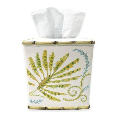 Dena™ Home Tropical Palm Boutique Tissue Box Cover