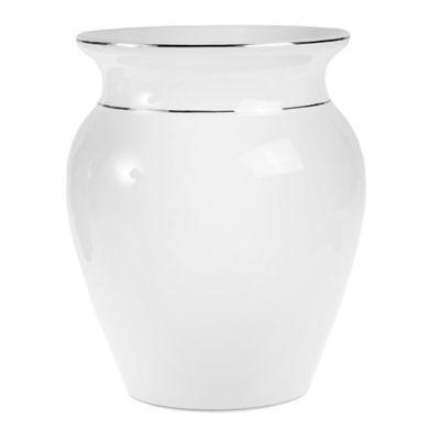 Moreau Ceramic Wastebasket in White