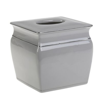 Grey Tissue Box Cover