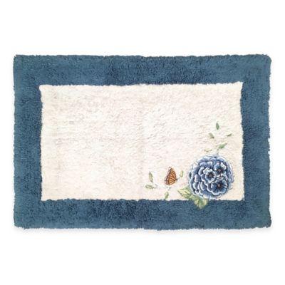 Lenox® Blue Floral Garden 20-Inch x 30-Inch Bath Rug