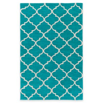 Artistic Weavers Holden Finley 5-Foot x 7-Foot 6-Inch Area Rug in Teal/Ivory