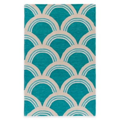 Artistic Weavers Holden Sienna 5-Foot x 7-Foot 6-Inch Area Rug in Teal/Ivory