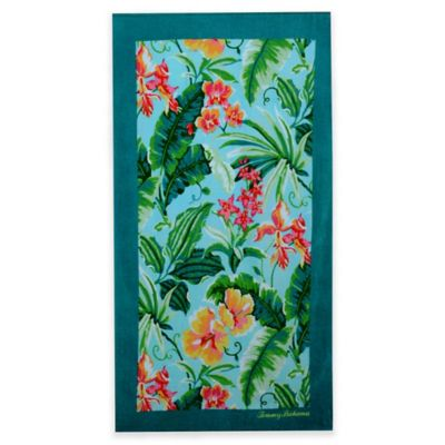 Floral Towels Beach