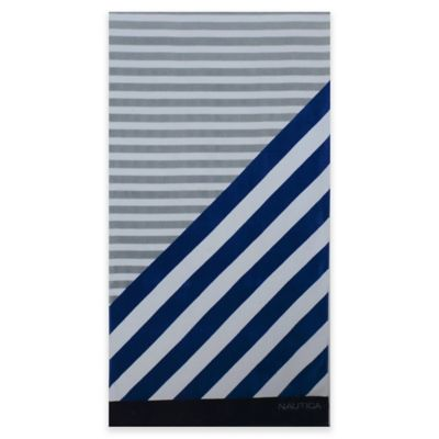 Nautica® Americana Stripes Beach Towel in Cobalt