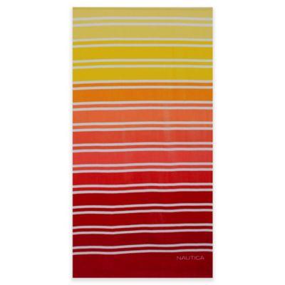Nautica® Ombre Stripe Beach Towel in Marigold