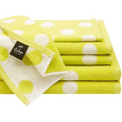 Echo Design Dottie 6-Piece Cotton Jacquard Towel Set in Green