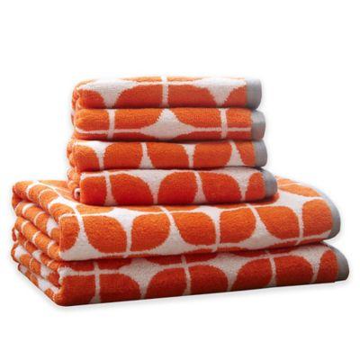 Intelligent Design Lita 6-Piece Cotton Jacquard Towel Set in Grey