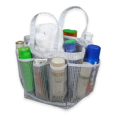 Grey Shower Totes and Bath Storage