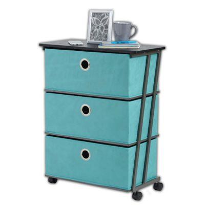 Studio 3B™ 3-Drawer Wide Storage Cart in Aqua