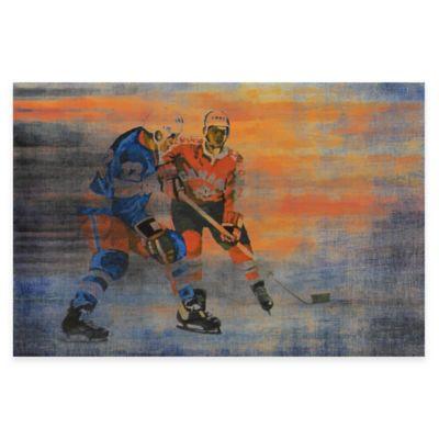 Marmont Hill 30-Inch x 20-Inch USA vs. Canada Hockey Canvas Wall Art
