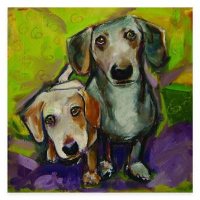 Marmont Hill 40-Inch x 40-Inch Two Dachshunds Canvas Wall Art