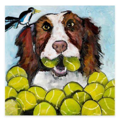 Marmont Hill Tara Likes Tennis 18-Inch x 18-Inch Canvas Wall Art