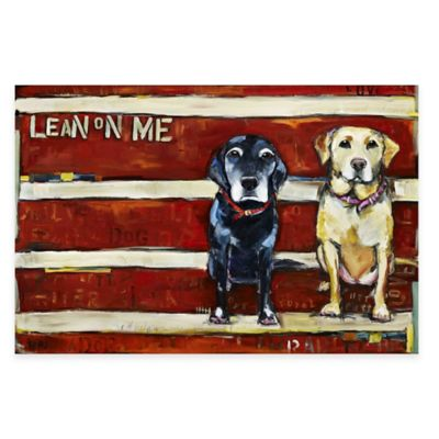 "Marmont Hill 30-Inch x 20-Inch ""Lean On Me"" Canvas Wall Art"