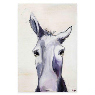 Parvez Taj Donkey 20-Inch x 30-Inch Canvas Wall Art