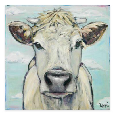Parvez Taj When Cows Fly 24-Inch x 24-Inch Canvas Wall Art