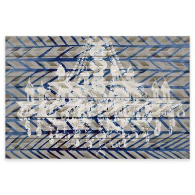 Parvez Taj White Light 45-Inch x 30-Inch White Wood Wall Art