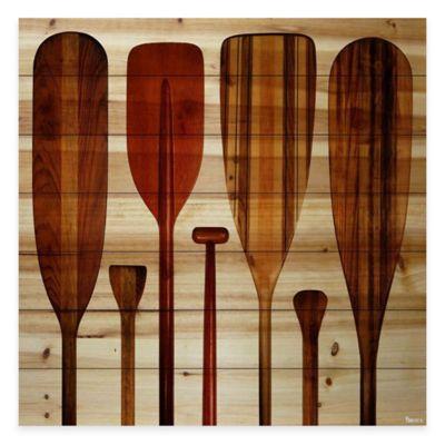 Parvez Taj Paddles 32-Inch x 32-Inch Pine Wood Wall Art