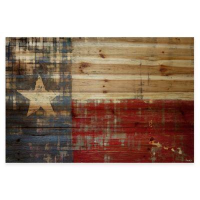 Parvez Taj Texas 60-Inch x 40-Inch Pine Wood Wall Art