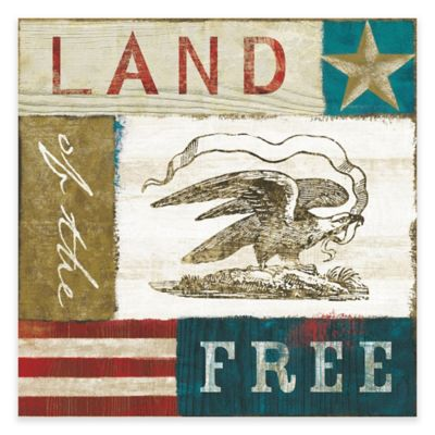 Marmont Hill Eagle I 24-Inch x 24-Inch Block Print Canvas Wall Art
