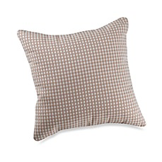 Glenna Jean Central Park Checked Throw Pillow in Tan