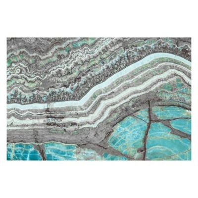 Marmont Hill Blue Grey Mountains 36-Inch x 24-Inch Canvas Wall Art