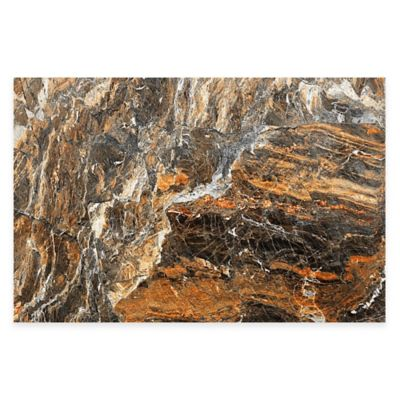 Parvez Taj Rust Rock 24-Inch x 16-Inch Canvas Wall Art