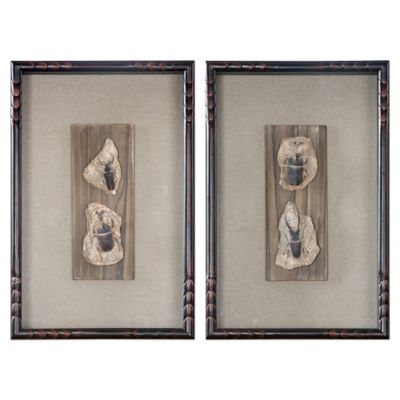 Uttermost Fossilized Insects Wall Art (Set of 2)