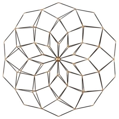 Uttermost Dorrin Geometric Floral Wall Art