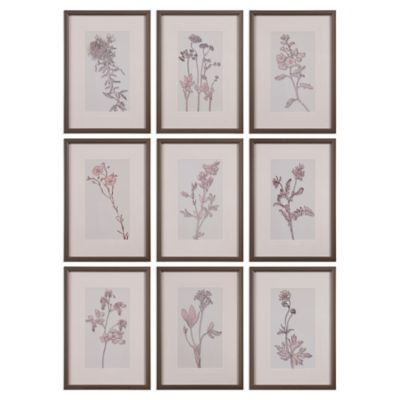 Uttermost Spring Delights Floral Wall Art (Set of 9)