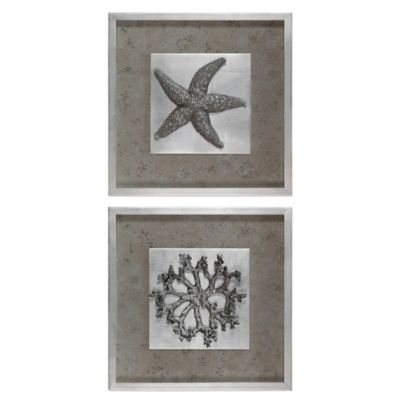 Uttermost Starfish & Coral Shadow Box Wall Art (Set of 2)