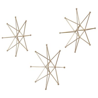 Uttermost Gold Stars Wall Art (Set of 3)