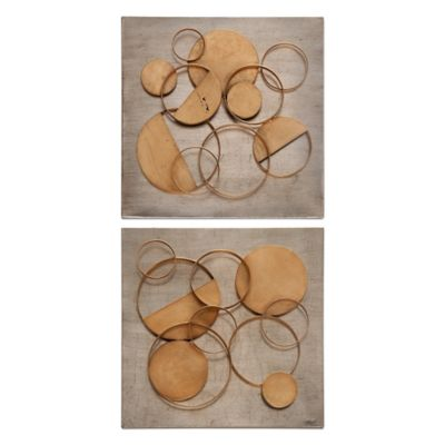 Uttermost Hanlon Metal Squares Wall Art (Set of 2)