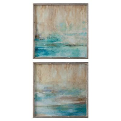 Uttermost Through the Mist Abstract Wall Art (Set of 2)