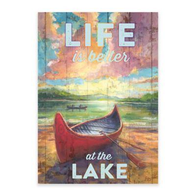 Summer Life at the Lake Canvas Wall Art