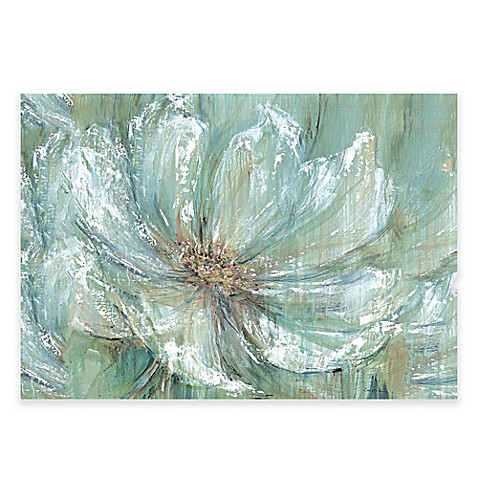 Teal splash canvas wall art bed bath beyond for Teal wall art